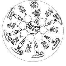 Mandala bolas de Navidad - Dibujos para Colorear y Pintar - Dibujos para colorear MANDALAS - Dibujos de MANDALAS NAVIDEÑOS para colorear