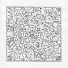 Mandala Estrellas y arcos - Dibujos para Colorear y Pintar - Dibujos para colorear MANDALAS - Dibujos de MANDALA ESTRELLA para colorear