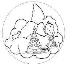 Mandala angel de Navidad - Dibujos para Colorear y Pintar - Dibujos para colorear MANDALAS - Dibujos de MANDALAS NAVIDEÑOS para colorear