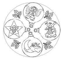 Mandala decoracion de Navidad - Dibujos para Colorear y Pintar - Dibujos para colorear MANDALAS - Dibujos de MANDALAS NAVIDEÑOS para colorear