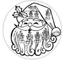 Mandala Cara de Santa - Dibujos para Colorear y Pintar - Dibujos para colorear MANDALAS - Dibujos de MANDALAS NAVIDEÑOS para colorear