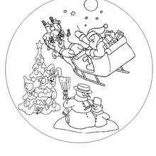Mandala trineo de Navidad - Dibujos para Colorear y Pintar - Dibujos para colorear MANDALAS - Dibujos de MANDALAS NAVIDEÑOS para colorear