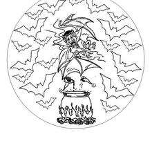 Mandala de Halloween