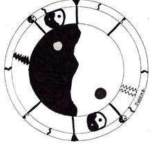 Dibujo para colorear : Mandala ying yang