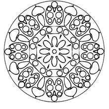 Mandala  Mariquitas y flores - Dibujos para Colorear y Pintar - Dibujos para colorear MANDALAS - MANDALAS DE FLORES para colorear