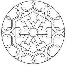Dibujo para colorear : Mandala Adorno geométrico