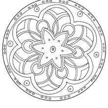 Mandala Rosetón y flores - Dibujos para Colorear y Pintar - Dibujos para colorear MANDALAS - MANDALAS DE FLORES para colorear