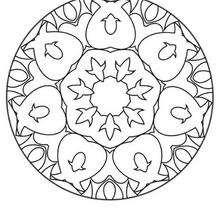 Dibujo para colorear : Mandala Hermoso lis