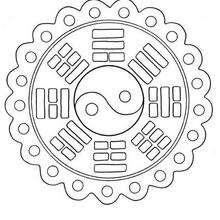 Dibujo para colorear : Mandala Encaje