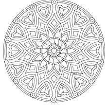 Dibujo para colorear : Flores y escudos