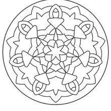 Mandala Flores y chupetes - Dibujos para Colorear y Pintar - Dibujos para colorear MANDALAS - MANDALAS DE FLORES para colorear