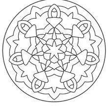Dibujo para colorear : Mandala Flores y chupetes