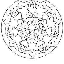 Mandala Rosetón medieval - Dibujos para Colorear y Pintar - Dibujos para colorear MANDALAS - MANDALAS ROSETON para colorear