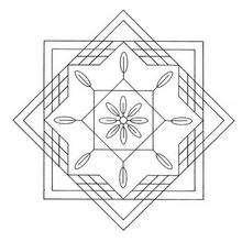 Mandala Cuadrados y triángulos - Dibujos para Colorear y Pintar - Dibujos para colorear MANDALAS - MANDALAS para niños para colorear