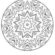 Mandala Corazones y flechas - Dibujos para Colorear y Pintar - Dibujos para colorear MANDALAS - Dibujos de MANDALAS INFANTILES para colorear