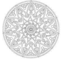 Dibujo para colorear : Rosetón tipo Maya