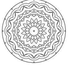 Mandala Olas y lazos - Dibujos para Colorear y Pintar - Dibujos para colorear MANDALAS - MANDALAS para niños para colorear