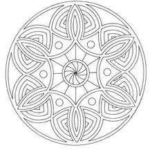 Mandala Lazos y círculos - Dibujos para Colorear y Pintar - Dibujos para colorear MANDALAS - MANDALAS para niños para colorear