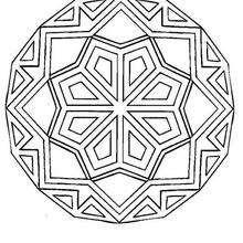 Mandala Rosetón con rombos - Dibujos para Colorear y Pintar - Dibujos para colorear MANDALAS - MANDALAS ROSETON para colorear