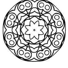 Mandala Ramo de flores - Dibujos para Colorear y Pintar - Dibujos para colorear MANDALAS - MANDALAS DE FLORES para colorear