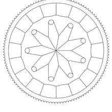Dibujo para colorear : Mandala Mecanismo
