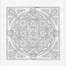 Mandala Mosaicas para imprimir - Dibujos para Colorear y Pintar - Dibujos para colorear MANDALAS - Dibujos de MANDALAS para imprimir