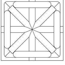 Dibujo para colorear : Mandala cuadrícula