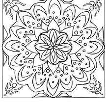 Mandala Azulejo Flor - Dibujos para Colorear y Pintar - Dibujos para colorear MANDALAS - MANDALAS DE FLORES para colorear