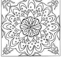 Dibujo para colorear : Mandala Azulejo Flor