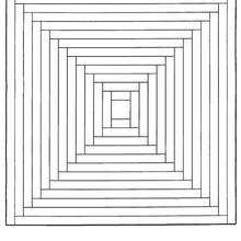 Dibujo para colorear : Mandala Escalones de la pirámide