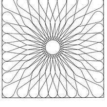 Dibujo para colorear : Mandala Margarita