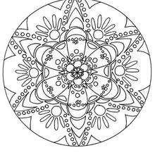 Dibujo para colorear : Mandala Flor virtual