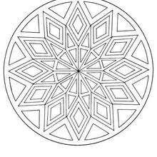 Mandala Rombos y triángulos - Dibujos para Colorear y Pintar - Dibujos para colorear MANDALAS - MANDALAS para niños para colorear
