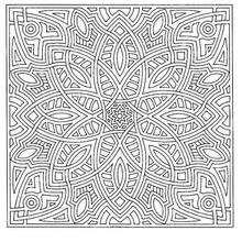 Mandala cuadrado - Dibujos para Colorear y Pintar - Dibujos para colorear MANDALAS - MANDALAS para niños para colorear