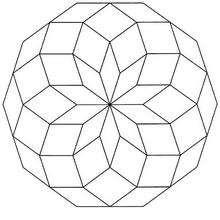 Dibujo para colorear : Mandala Rosetón básico