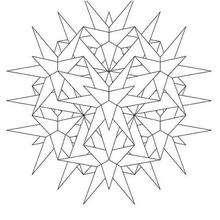 Mandala Estrella en 3D - Dibujos para Colorear y Pintar - Dibujos para colorear MANDALAS - Dibujos de MANDALA ESTRELLA para colorear