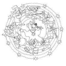Mandala Animales loquitos - Dibujos para Colorear y Pintar - Dibujos para colorear MANDALAS - Dibujos de MANDALAS DE ANIMALES para colorear