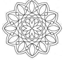 Rosetón de perlas - Dibujos para Colorear y Pintar - Dibujos para colorear MANDALAS - MANDALAS ROSETON para colorear