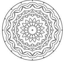Mandala Olas y flores - Dibujos para Colorear y Pintar - Dibujos para colorear MANDALAS - MANDALAS DE FLORES para colorear