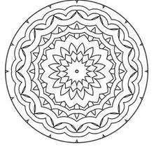 Mandala Olas y flores - Dibujos para Colorear y Pintar - Dibujos para colorear MANDALAS - MANDALAS DE FLORES para colorear