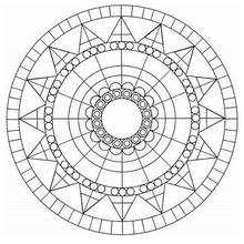 Mandala azteca - Dibujos para Colorear y Pintar - Dibujos para colorear MANDALAS - Dibujos para colorear MANDALAS para jovenes