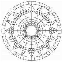 Dibujo para colorear : Mandala azteca