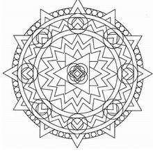 Mandala Formas geométricas - Dibujos para Colorear y Pintar - Dibujos para colorear MANDALAS - MANDALAS para niños para colorear
