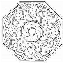 Mandala Octogonal - Dibujos para Colorear y Pintar - Dibujos para colorear MANDALAS - MANDALAS para niños para colorear
