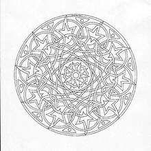 Mandala de Navidad - Dibujos para Colorear y Pintar - Dibujos para colorear MANDALAS - Dibujos de MANDALAS NAVIDEÑOS para colorear