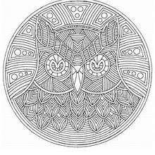 Mandala Búho - Dibujos para Colorear y Pintar - Dibujos para colorear MANDALAS - Dibujos de MANDALAS DE ANIMALES para colorear
