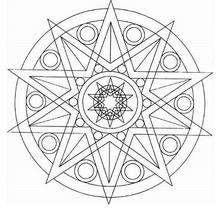Mandala estrella - Dibujos para Colorear y Pintar - Dibujos para colorear MANDALAS - Dibujos de MANDALA ESTRELLA para colorear