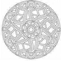 Rosetón hermoso - Dibujos para Colorear y Pintar - Dibujos para colorear MANDALAS - MANDALAS ROSETON para colorear