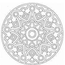 Mandala Círculos y flechas - Dibujos para Colorear y Pintar - Dibujos para colorear MANDALAS - MANDALAS para niños para colorear