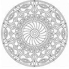 Dibujo para colorear : Mandala Ojos de dioses